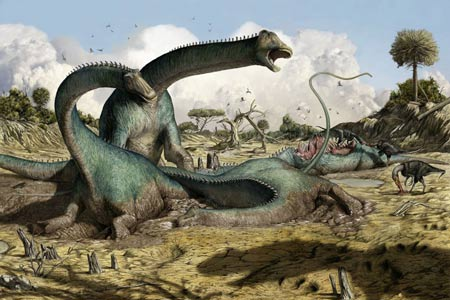 Kaatedocus sauropods mired in mud