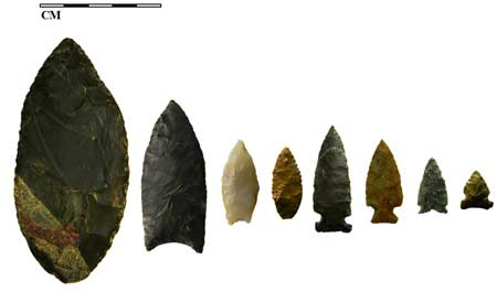 Kelly Forks stone points